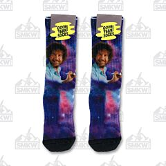 Oooh Yeah! Spaced Out Bob Ross Unisex Crew Socks M/L