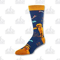 Oooh Yeah! Golden Retriever Mens Crew Socks