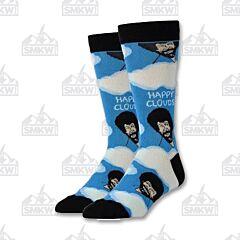 Oooh Yeah! Happy Clouds Bob Ross Men's Crew Socks