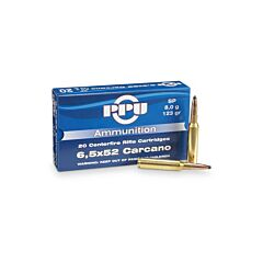 PPU 6.5x52mm Carcano 123 Grain Jacketed Soft Point 20 Rounds