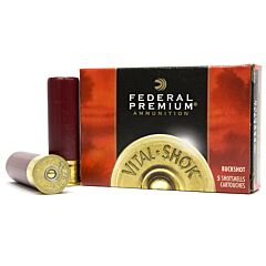 "Federal Premium Vital-Shok 12 Gauge 3.5"" 18 Pellet 00 Copper Plated Buckshot 5 Rounds"