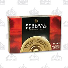 "Federal Premium Vital Shok12 Gauge 3"" Buffered Copper Plated Buckshot 5 Rounds"