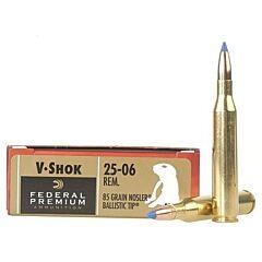 Federal Premium V-Shok 25-06 Remington 85 Grain Nosler Ballistic Tip 20 Rounds