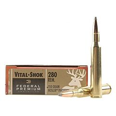 Federal Premium Vital-Shok 280 Remington 150 Grain Nosler Partition Tip 20 Rounds