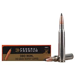 Federal Premium Vital-Shok 280 Remington 180 Grain Trophy Copper 20 Rounds