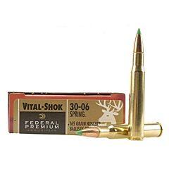 Federal Premium VItal-Shok 30-06 Springfield 165 Grain  Nosler Ballistic Tip 20 Rounds