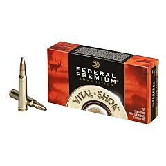 Federal Premium Vital-Shok 338 Winchester Mag 210 Grain Nosler Partition 20 Rounds