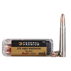 Federal Premium Cape-Shok 375 H&H Magnum 300 Grain Swift-A-Frame 20 Rounds