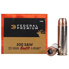 Federal Premium Personal Defense 500 Smith & Wesson 325 Grain Swift-A-Frame 20 Rounds
