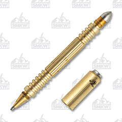 Rick Hinderer Investigator Tactical Pen Brass Satin
