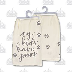 Primitives by Kathy Home Décor My Kids Have Paws Dish Towels