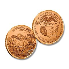 Mustang American Wildlife Copper Round