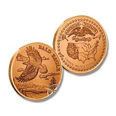 Bald Eagle American Wildlife Copper Round