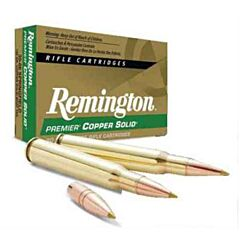 Remington Premier Copper Rifle 243 Winchester 80 Grain Copper Solid Tipped Boat Tail 20 Rounds