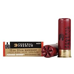 "Federal Premium Personal Defense 12 Gauge 2.75"" 9 Pellets 00 Buckshot 5 Rounds"