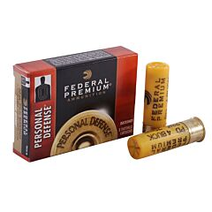 "Federal Premium Personal Defense 20 Gauge 2.75"" 24 Pellets 4 Buckshot 5 Rounds"