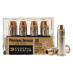 Federal Premium Personal Defense 38 Special 110 Grain Hydra-Shok Jacketed Hollow Point 20 Rounds