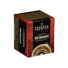 "Federal Premium Personal Defense 410 Gauge 2.5"" 4 Pellet 000 Buckshot 20 Rounds"