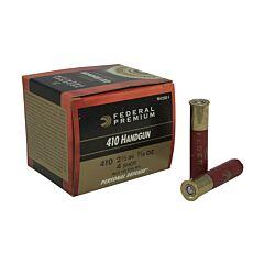 "Federal Premium Personal Defense 410 Gauge Handgun 2.5"" 7/16oz  #4 Lead Shot 20 Rounds"