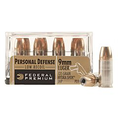 Federal Premium Personal Defense 9mm 135 Grain Hydra-Shok Jacketed Hollow Point 20 Rounds