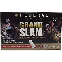 "Federal Grand Slam 12 Gauge 2-3/4"" #5 Copper Plated Lead Shot 10 Rounds"