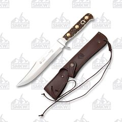 Puma Bowie Stag Horn Hunting Knife with Leather Sheath