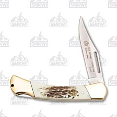 Puma SGB Whitetail POM Commando Stag Folding Pocket Knife