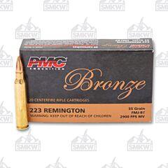 PMC Ammunition Bronze 223 Remington 55 Grain FMJBT 20 Rounds