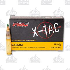 PMC 5.56 62 Grain Green Tip 20 Rounds