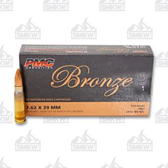 PMC Bronze Ammunition 7.62x39mm 123 Grain Full Metal Jacket 20 Rounds