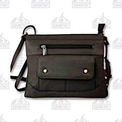 """Prairie Schooner Black Leather Purse 8.5"""""""