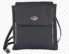"""Prairie Schooner Black Leather Purse 9.5"""""""