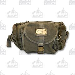 Prairie Schooner Green Canvas Fanny Pack