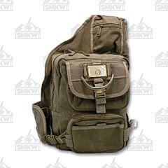 Prairie Schooner Green Canvas Backpack