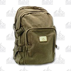 Prairie Schooner Large Green Canvas Backpack