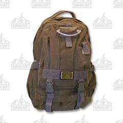 Prairie Schooner Large Brown Canvas Backpack