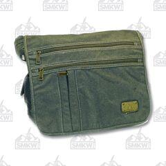 Prairie Schooner Green Canvas Laptop Bag