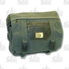 Prairie Schooner Green with Brown Canvas Shoulder Bag