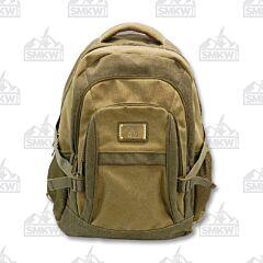Prairie Schooner Green and Khaki Canvas Backpack