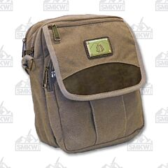 Prairie Schooner Khaki Canvas Padded Shoulder Bag