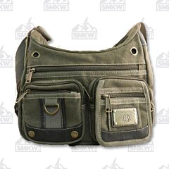Prairie Schooner Green Canvas Shoulder Bag