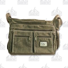 Prairie Schooner Large Green Canvas Shoulder Bag