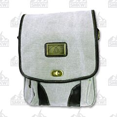 Prairie Schooner Light Gray Canvas Tablet Bag