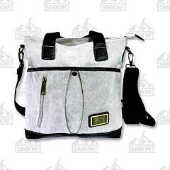 Prairie Schooner Light Gray Canvas Shoulder Bag