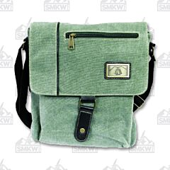 Prairie Schooner Sage Green Canvas Shoulder Bag