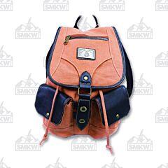 Prairie Schooner Coral Canvas Backpack