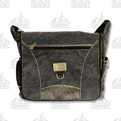 Prairie Schooner Charcoal Canvas Shoulder Bag