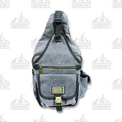 Prairie Schooner Gray Canvas Sling Backpack