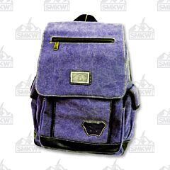 Prairie Schooner Purple Canvas Backpack
