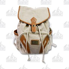 Prairie Schooner Cream Canvas Backpack